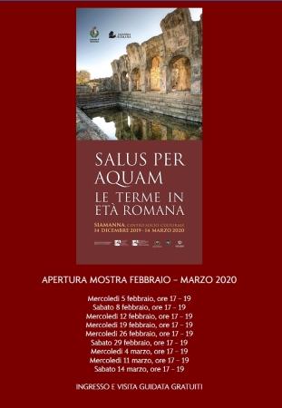 Mostra 'Salus per aquam-Le terme in età romana' - Apertura mesi di febbario e marzo 2020